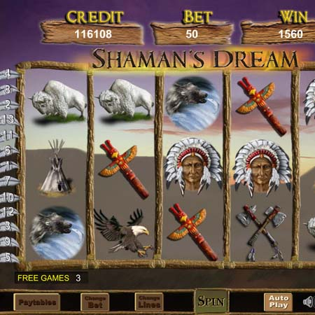 shamans dream slot game
