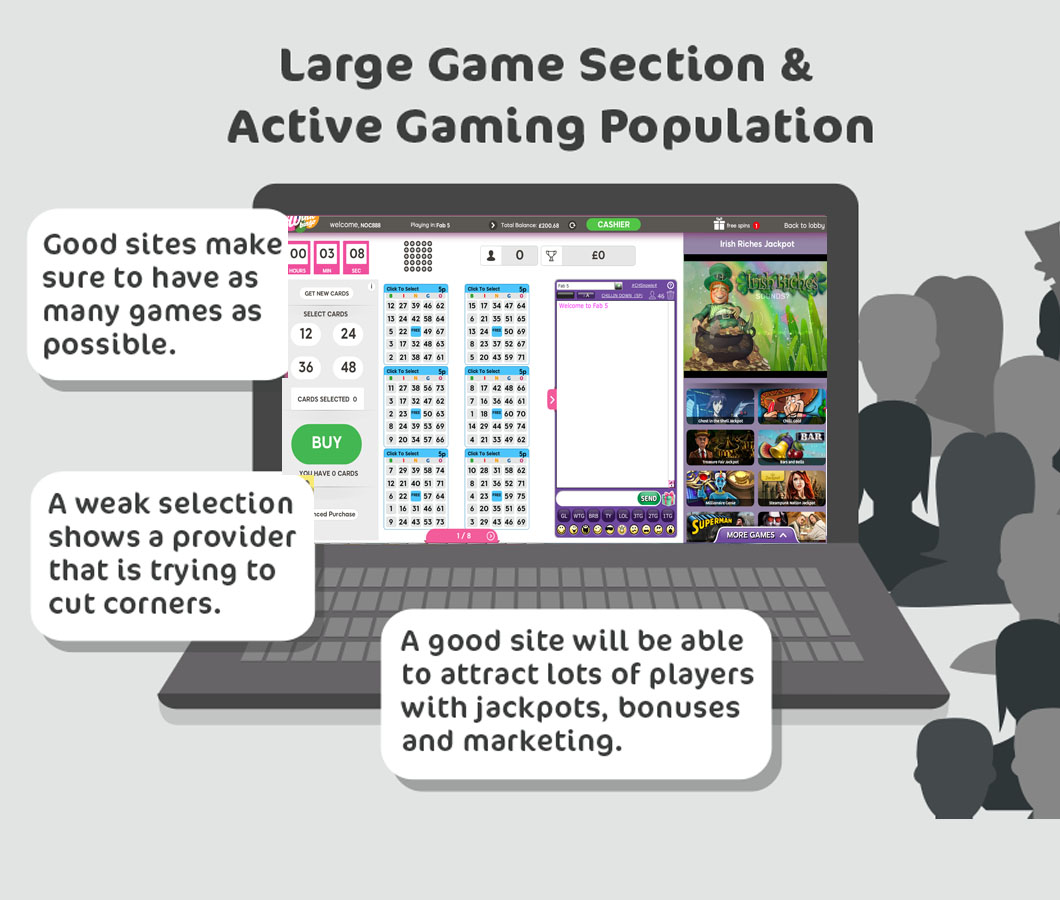 large game selection